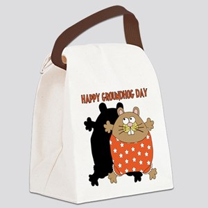 Happy Groundhog Day Canvas Lunch Bag