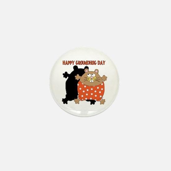 Happy Groundhog Day Mini Button