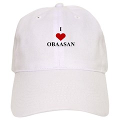 I Love (heart) Obaasan Baseball Cap