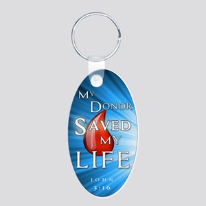 Aluminum Oval Keychain - Donor Saved Me