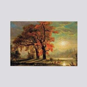 Bierstadt - Sunset Scene with Dee Rectangle Magnet