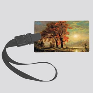 Bierstadt - Sunset Scene with De Large Luggage Tag