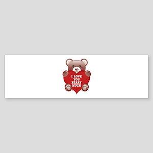 I Love You Beary Much Sticker (Bumper)