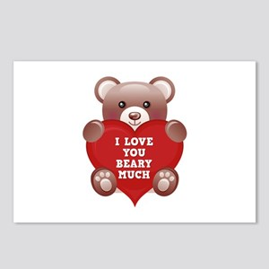 I Love You Beary Much Postcards (Package of 8)