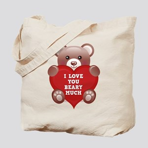 I Love You Beary Much Tote Bag