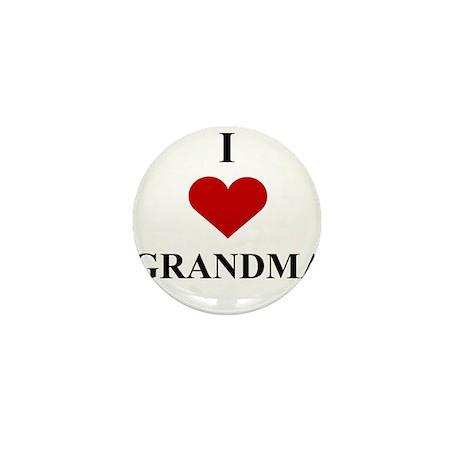 I Love (heart) Grandma Mini Button