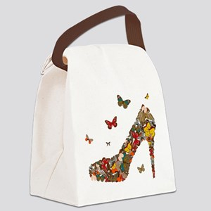 Butterflies and Heels Canvas Lunch Bag