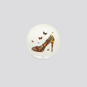 Butterflies and Heels Mini Button