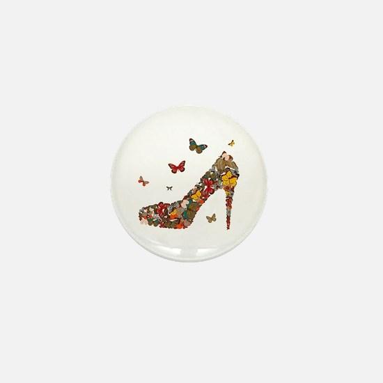 Butterflies and Heels Mini Button