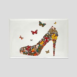 Butterflies and Heels Rectangle Magnet