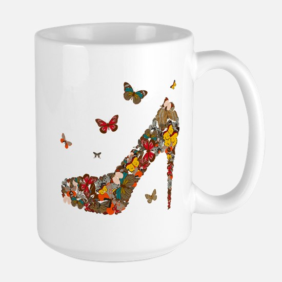 Butterflies and Heels Large Mug