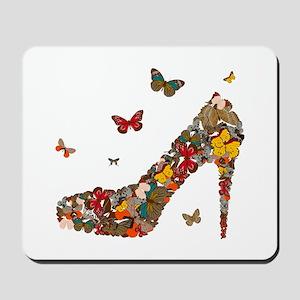 Butterflies and Heels Mousepad