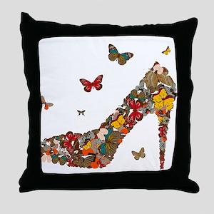 Butterflies and Heels Throw Pillow
