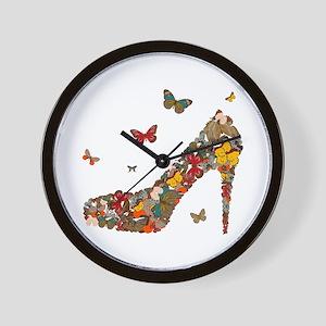 Butterflies and Heels Wall Clock