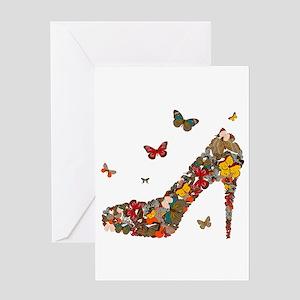 Butterflies and Heels Greeting Card
