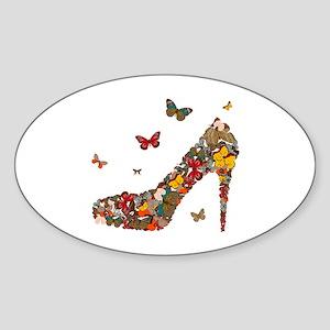 Butterflies and Heels Sticker (Oval)