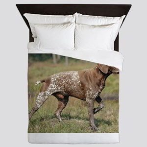 german shorthair pointer full Queen Duvet