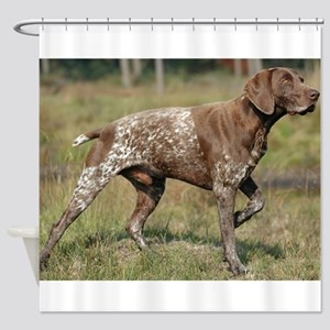 german shorthair pointer full Shower Curtain