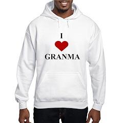 I Love (heart) Granma Hoodie