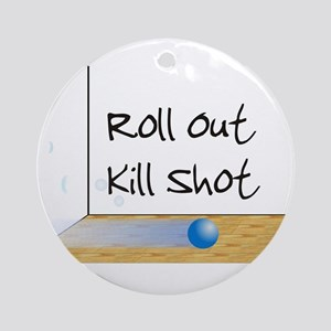 Racquetball Roll Out Ornament (Round)