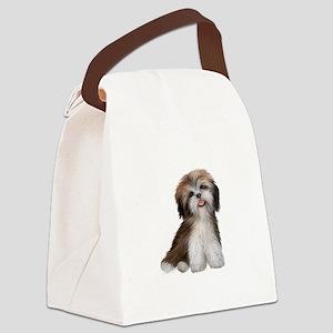 Shih Tzu (brn-crm)-JTD Canvas Lunch Bag