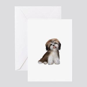 Shih Tzu (brn-crm)-JTD Greeting Card