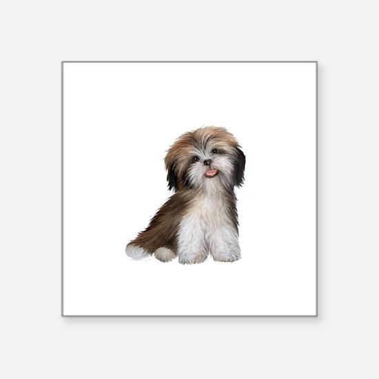 "Shih Tzu (brn-crm)-JTD Square Sticker 3"" x 3"""