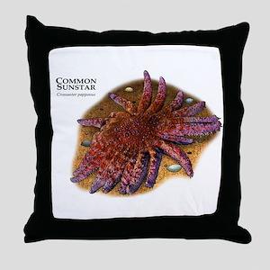 Common Sunstar Throw Pillow
