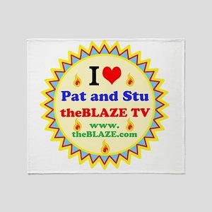 I HEART Pat and Stu Throw Blanket