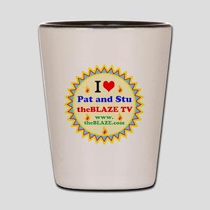 I HEART Pat and Stu Shot Glass