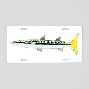 Yellowtail Barracuda Aluminum License Plate