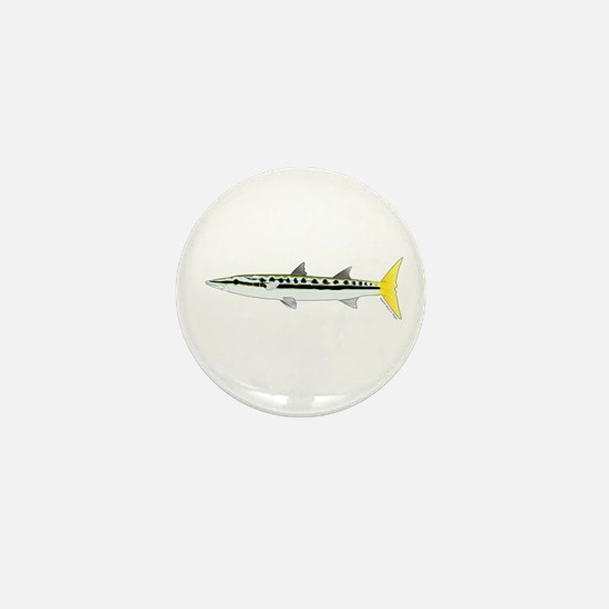 Yellowtail Barracuda Mini Button
