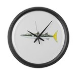 Yellowtail Barracuda Large Wall Clock