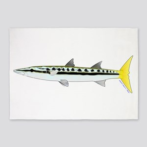 Yellowtail Barracuda 5'x7'Area Rug