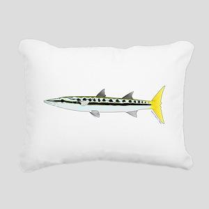 Yellowtail Barracuda Rectangular Canvas Pillow