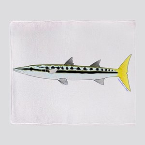 Yellowtail Barracuda Throw Blanket
