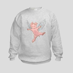 Flying Pig Kids Sweatshirt