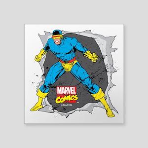 "Cyclops X-Men Square Sticker 3"" x 3"""
