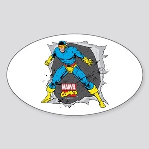 Cyclops X-Men Sticker (Oval)