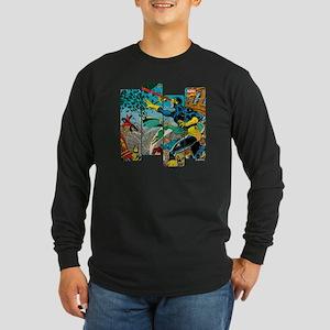 Cyclops Comic Panel Long Sleeve Dark T-Shirt
