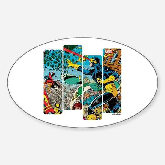 Cyclops Comic Panel Sticker (Oval)