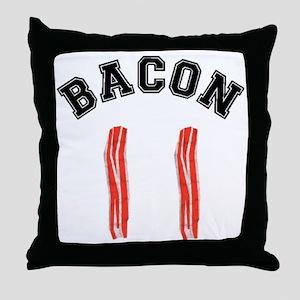 Bacon Jersey Throw Pillow