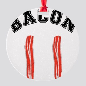 Bacon Jersey Round Ornament