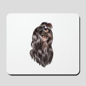 Shih Tzu (blk Portr)-JTD Mousepad