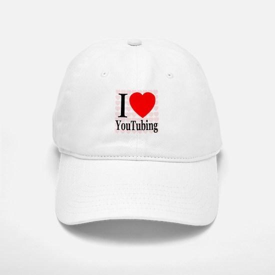 I Love YouTubing Baseball Baseball Cap