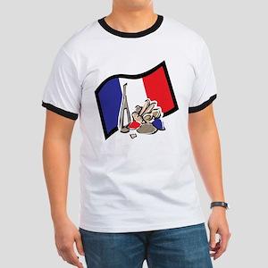 France Bastille Day Ringer T