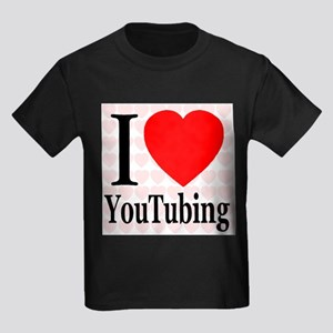 I Love YouTubing Kids Dark T-Shirt