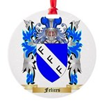 Felices Round Ornament
