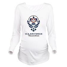 USAF Thunderbird Long Sleeve Maternity T-Shirt