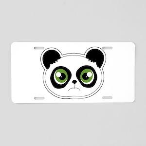 Cute Sad Panda Aluminum License Plate